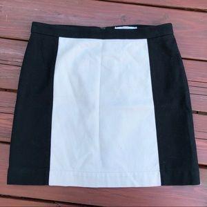 Ann Taylor Loft Black tan skirt Sz 6p